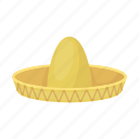 hat, headdress, headwear, mexico, sombrero icon