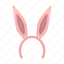 ears, headdress, headwear, hoop, rabbit icon