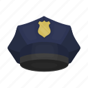 headdress, headwear, peaked cap, policeman icon