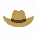 cowboy, hat, headdress, headwear, wide-brimmed hat icon