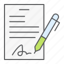 contract, document, pen, form, signature, sign, agreement