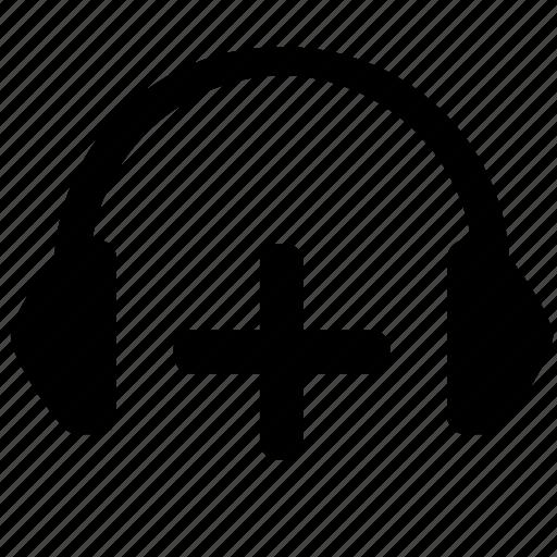 add, connect, equipment, headphones, music, sound icon