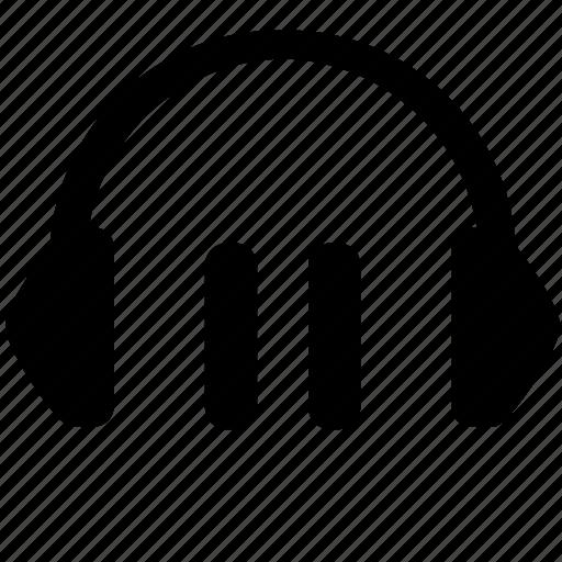 headphones, listen, music, pause, sound icon