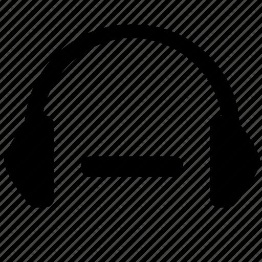 cut, equipment, erase, headphones, minus, music icon