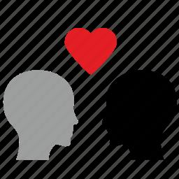 gay, gender, head, heart, love, romantic icon