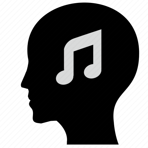 face, head, listen, man, music, sound icon