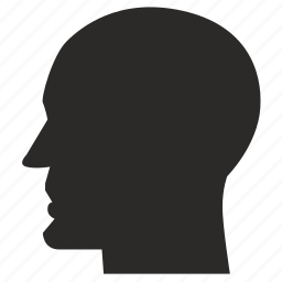 bald, face, head, man, strong icon