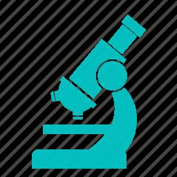 exam, experiment, lab, laboratory, microscope, science icon