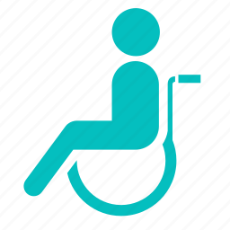 disable, disabled, handicapped, patient, wheelchair icon