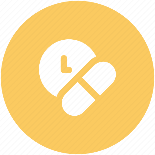 antibiotic, daily dosage, healthcare, medical treatment, medication, medication schedule, pill time icon