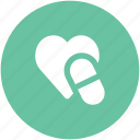healthcare, heart medication, heart medicine, heart recovery, illness, medication, supplements icon