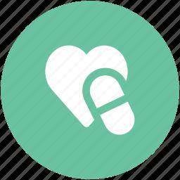 healthcare, heart medication, heart medicine, heart recovery, illness, medication, supplements icon