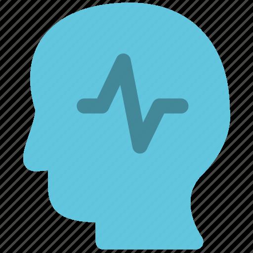 epilepsy, head, health icon