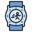 device, exercise, heart, rate, running, sport, watch icon