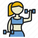 body, exercise, gym, healthy, muscle, training, weight icon