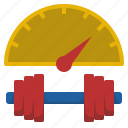 body, builder, dumbbel, increase, muscle, train, weights icon
