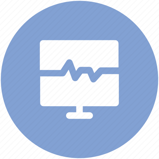 electrocardiogram, heartbeat, heartbeat screen, lifeline, pulsation, pulse, pulse rate icon