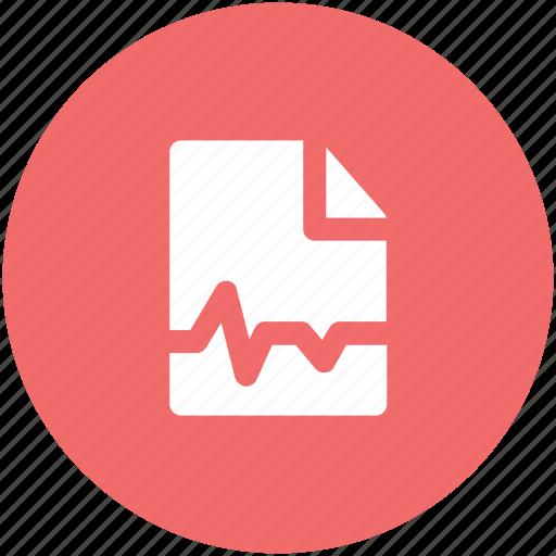 ecg, ecg report, electrocardiogram, medical exam, medical test, pulse trace, taking pulse icon