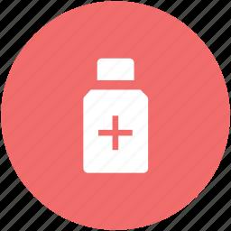bottle, liquid medicine, medical drugs, medication, medicine bottle, medicine jar, syrup icon