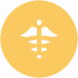asclepius, caduceus, herald's wand, medical sign, medical symbol, pharmacy snake symbol, two serpents icon
