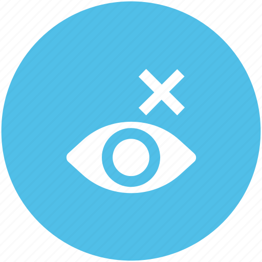 blind eye, blindness, can't see, eye care, eyesight, human eye, optometry icon