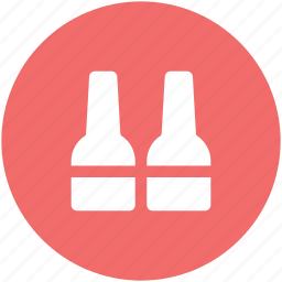 alcohol, bar, beer, bottles, drink, opened bottles, wine icon