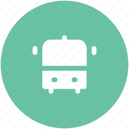 autobus, bus, motor bus, motorcoach, transport, travel, vehicle icon