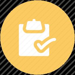 checklist, diet chart, medications, prescriptions, tick mark icon