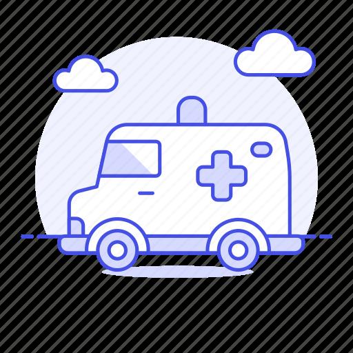 1, ambulance, car, clinic, cross, emergencies, health, hospital, medical, paramedic, red, vehicle icon