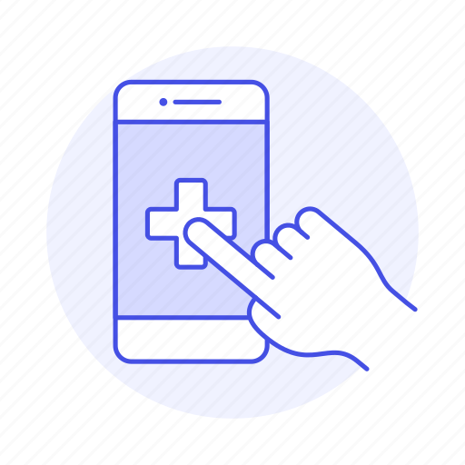 app, appointment, clinic, hand, health, hospital, medical, online, platform, software icon