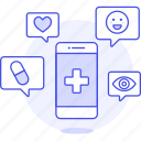 app, appointment, health, information, medical, medicine, online, phone, purchase, schedule icon