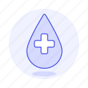 2, blood, bloodbank, cross, donation, drop, health, white icon