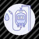 2, blood, donation, health, iv, pint, plastig, supply, surgery, transfusion icon