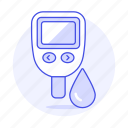 1, blood, glucose, health, laboratory, level, sample, sugar, test, tester icon