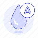 a, blood, classification, drop, health, type icon