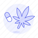 cannabis, capsule, drug, health, medication, medicine, natural, pharmacology, pill, weed icon