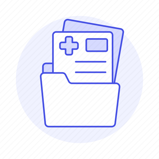 archive, care, case, cross, file, files, folder, health, information, patient, record, red, registry, report icon