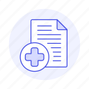care, case, clipboard, cross, health, hospital, information, patient, record, red, report icon