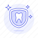 care, dental, dentistry, health, healthy, preventive, protection, shield, tooth, treatment icon