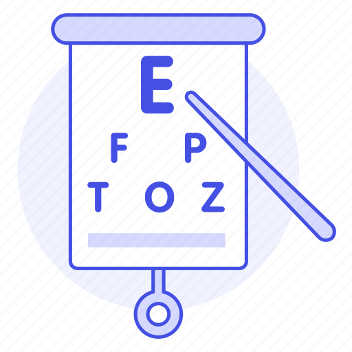 1, acuity, chart, diagnosis, examination, eye, health, medical, ophthalmology, optometry, test, visual icon