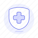 care, cross, health, healthcare, protect, service, shield icon