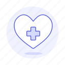 care, cross, health, healthcare, heart, white icon