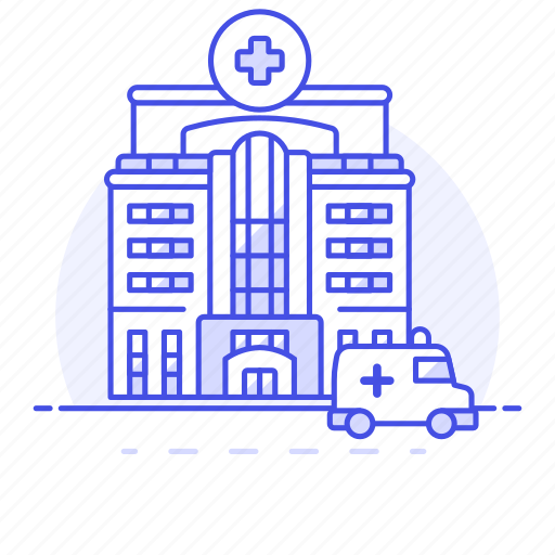 1, ambulance, building, car, care, clinic, cross, health, hospital, institution, red icon