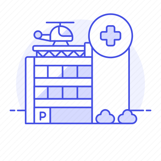 2, building, care, clinic, cross, health, helicopter, hospital, institution, red icon