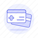 2, access, benefits, card, health, insurance, medical, services, treatment icon