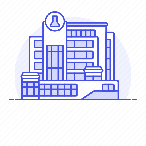 2, building, chemistry, health, hospital, laboratory, medical, research, science, scientific icon