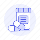 2, bottle, capsule, drug, health, medicine, pharmacology, pill, tablet icon