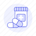 3, bottle, capsule, drug, health, medicine, pharmacology, pill, tablet icon