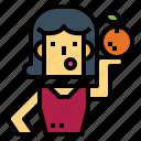 diet, healthy, orange, people