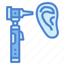 ear, healthcare, otoscope, tool